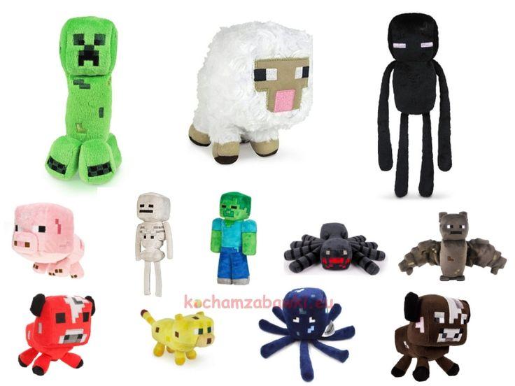 Maskotki Minecraft pluszaki Creeper,Enderman,Krowa,Świnia,Zombie
