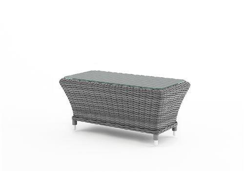 leonardo stolik z umeleho ratanu sedy