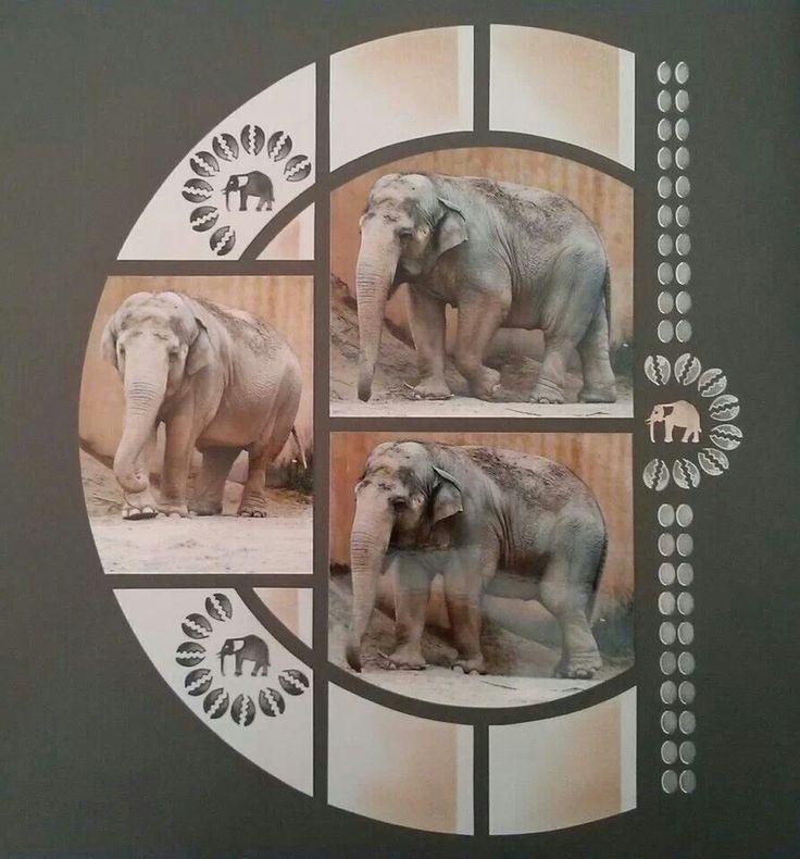 Duo Caraibes scrapbook layout