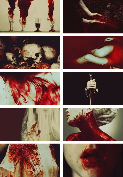 "da:o/i + aesthetics // blood magic:  ""Blood magic is a school of magic that uses the power inherent in blood to fuel spellcasting and also to twist the blood in others for violent or corrupting purposes."""