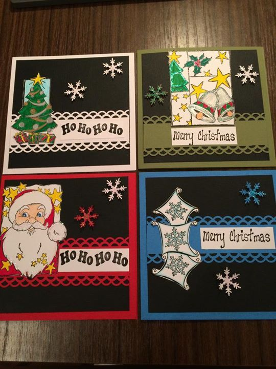 Christmas Cards made by me.