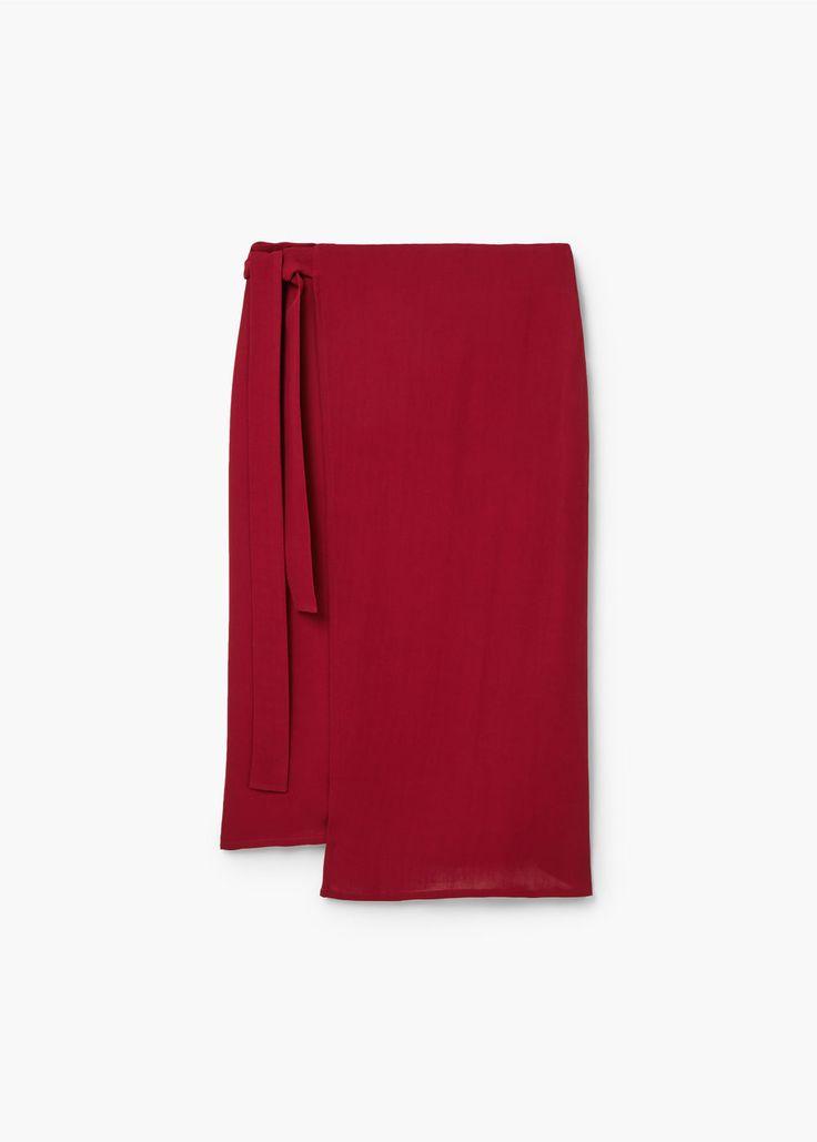 Wrap flowy skirt | MANGO
