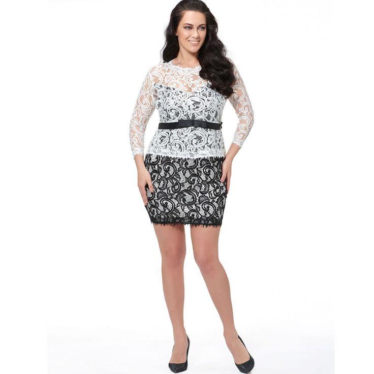 Sisjuly Plus Size Lace Dress Women Summer Mini Sexy Sheath Plus Size Bodycon Dresses