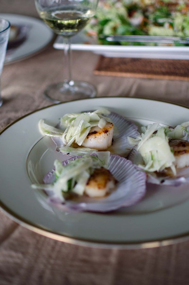 Seared scallops with fennel at Brookfarm farmhouse | heneedsfood.com