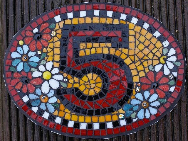 House Number by Angela Ibbs Mosaics