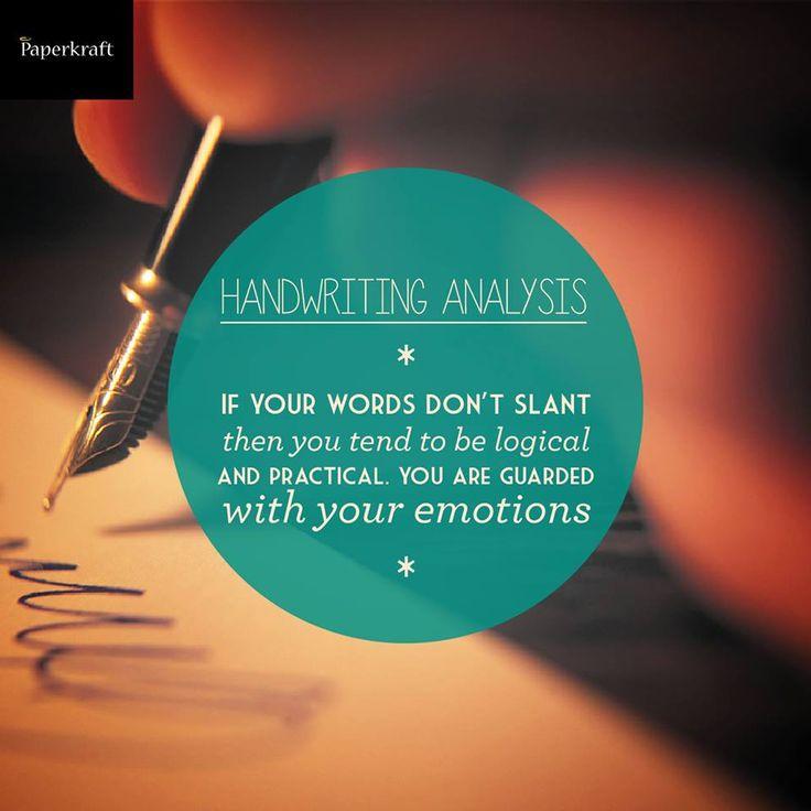 handwriting analysis slanting
