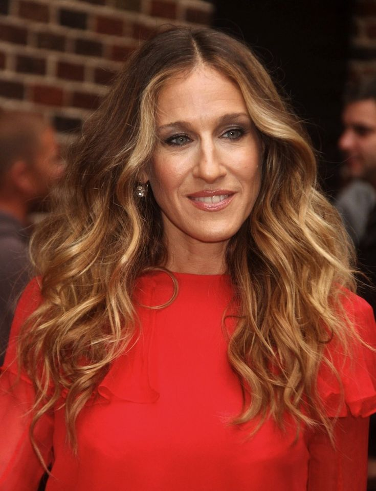 sara jessica parker ombre hair | Late Show with David Letterman', New York, America – 07 Sep ...