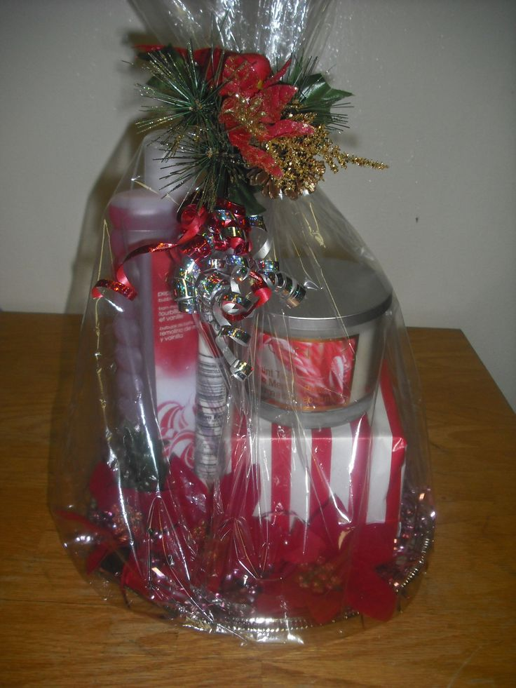 AVON BB Delight peppermint vanilla swirl, Avon peppermint candle gift basket on a silver platter. $17.00 www.youravon.com/cdavis0820 gift baskets etc can not be bought from Avon site.