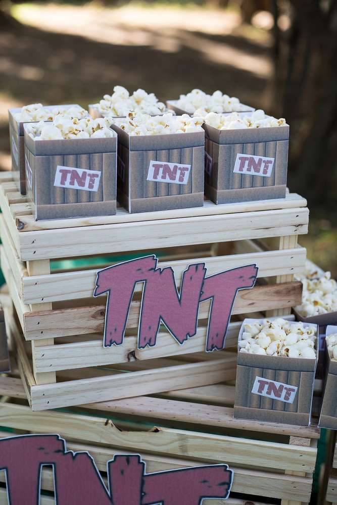 a3ce08909 The popcorn TNT boxes at this Angry Birds Birthday Party are awesome! See  more party ideas and share yours at CatchMyParty.com #catchmyparty # partyideas ...