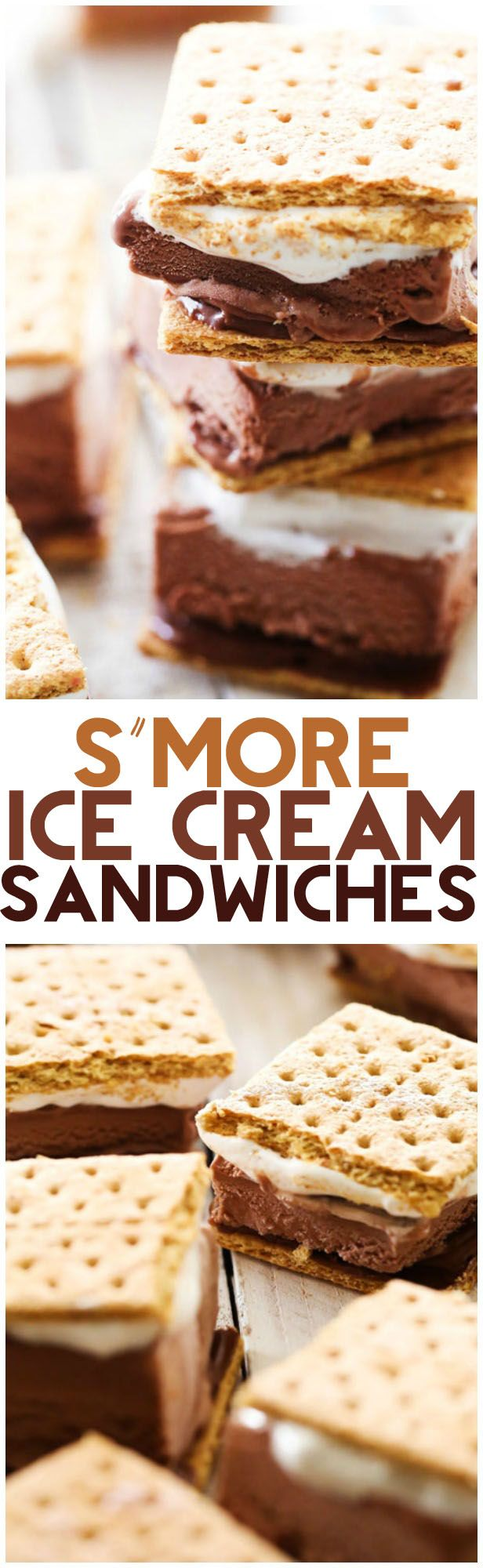 S'more Ice Cream Sandwiches... these are the PERFECT summer treat! Easy, tasty and a family favorite!