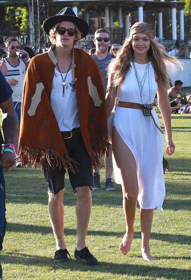 Gigi Hadid et Cody Simpson au festival de Coachella