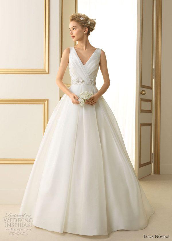 luna novias 2013 tenesse sleeveless ball gown straps