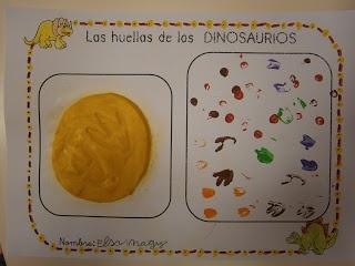 LA CLASE DE MIREN: mis experiencias en el aula: CUARTO TALLER DE PADRES: LA HUELLA DE LOS DINOSAURIOS
