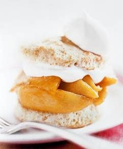 Peach Shortcake made with Gluten Free Almond Flour Biscuits    Get the recipe here!  http://thebarefootcook.com/recipes/peach-shortcake-made-with-gluten-free-almond-flour-biscuits/