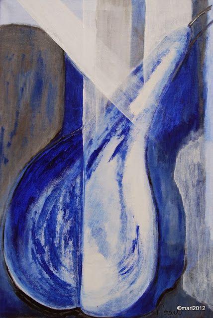 Kom binnen in de Kunstgalerie van Marl.Decoratieve schilderijen: 08-030 Peer Blauw
