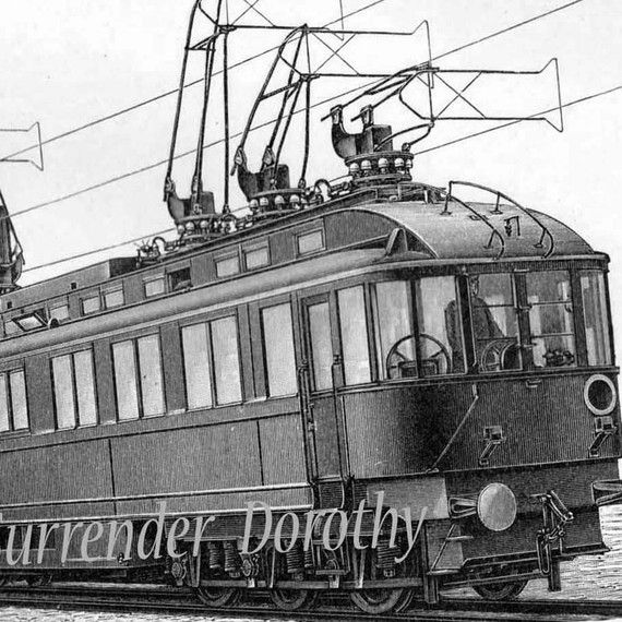 cable cars trolly modern electric trains 1907 vintage edwardian transportation engraving. Black Bedroom Furniture Sets. Home Design Ideas