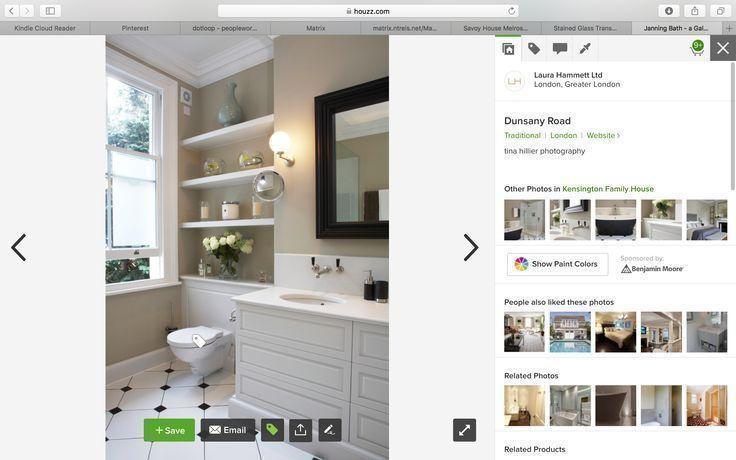 Great built-in floating shelves above toilet – Janning s Master Bath – #Bath #…..   – Shelves recipes