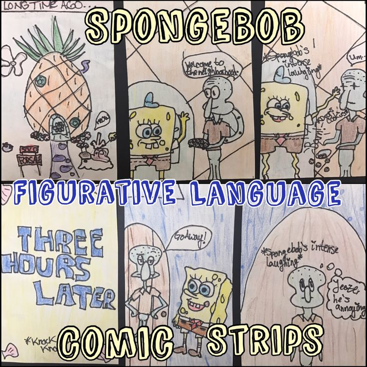 SpongeBob Square Pants! 7th graders watched an appropriate episode of SBSP, identified Figurative Language & the created Comic Strips! Click the blog post to learn more!