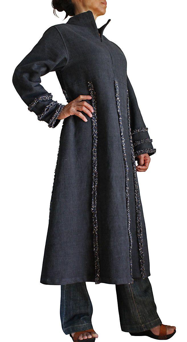 ジョムトン手織綿ジップアップドレス