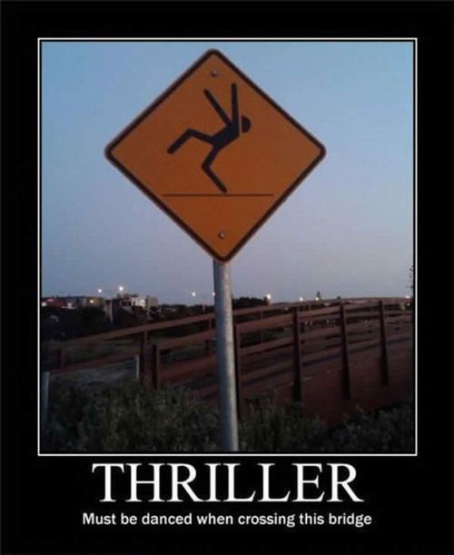 Thriller: Coffe Tables, Little Girls, Thrillers, Funny Signs, Bikinis Models, Kitchens Tables, Mornings Coffee, Street Signs, Michael Jackson