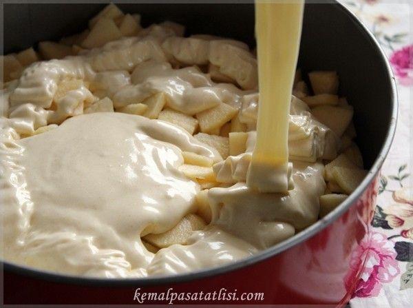 elmalı kek hamuru