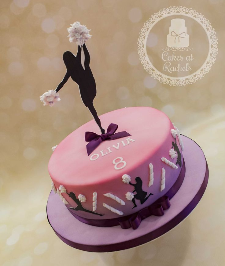Cheerleader Cake www.facebook.com/Cakes.at.Rachels