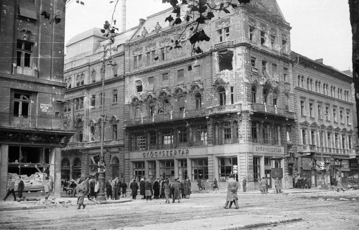 Budapest in ruins# revolution of 1956