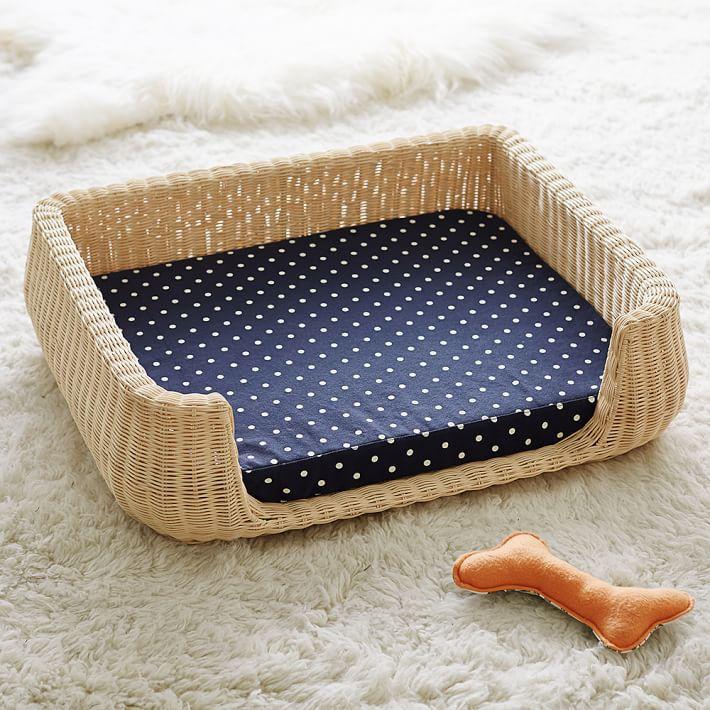 Northfield Canvas Wicker Pet Beds Dog Milk Pet beds