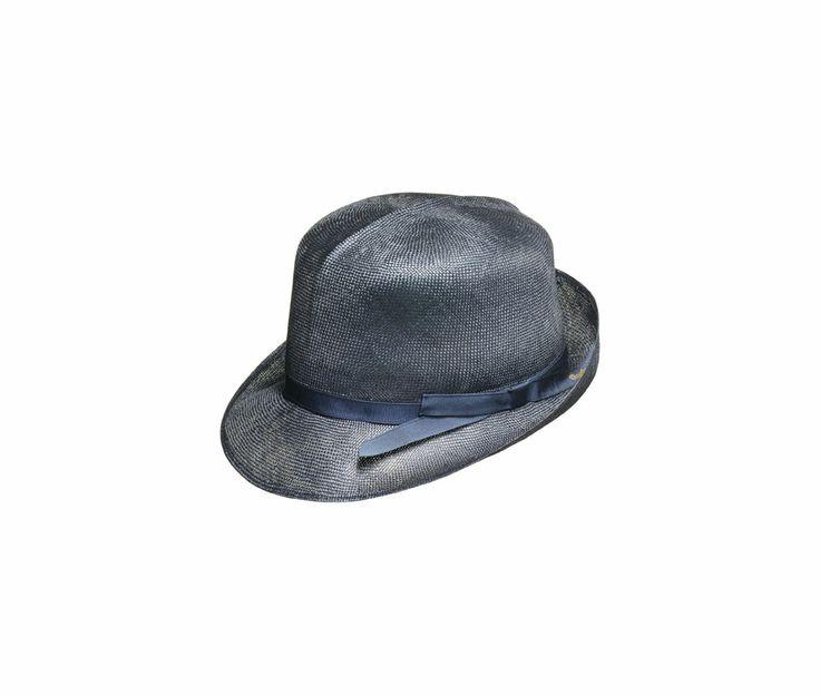 #Borsalino - Cappello in paglia sisol, sfoderato, arrotolabile, cupola tonda, ala medio-piccola, cinta sottile in gros grain logata. Made in Italy.