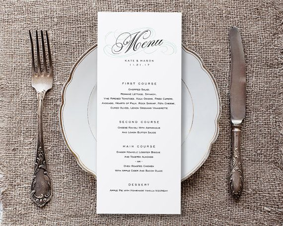 The 25+ best DIY menu cards template ideas on Pinterest DIY - menu templates free download word