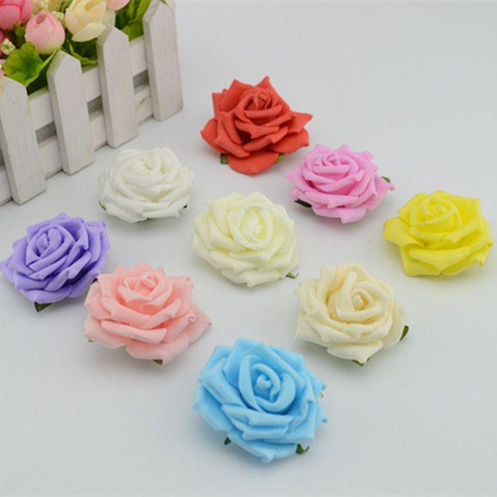 5 см чп розы цветок голову цветок пена цветок мяч бусины роуз украшения DIY цветок -