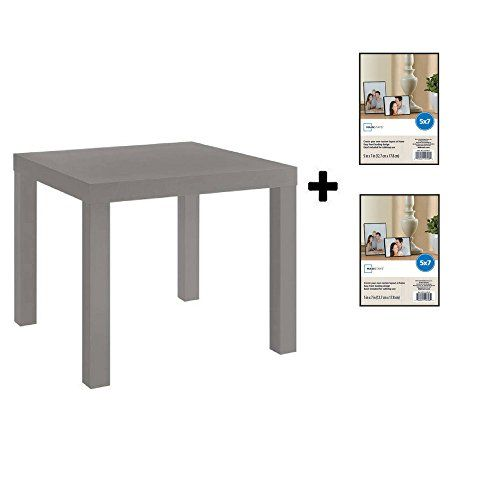 Mainstays Parsons Square End Table Multiple Colors Natural Reusable Cloth End Tables Mainstays Decor