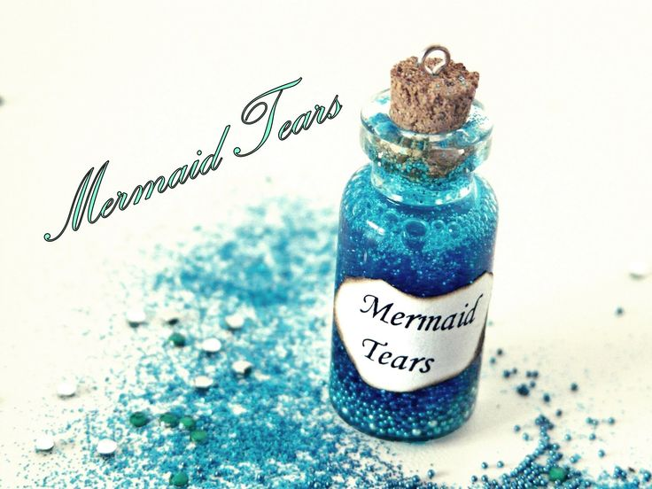 This is just adorable. Who doesn't love mermaids?!   Mermaid Tears Miniature Bottle Charm