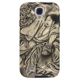 SOLD! - Classic vintage japanese samurai fighting demon tattoo Case-Mate Vibe Samsung Galaxy S4 Case #classic #japanese #vintage #samurai #fighting #demon #tattoo #art #case #cover #samsung #galaxy #s4 #cover #gift #Japan