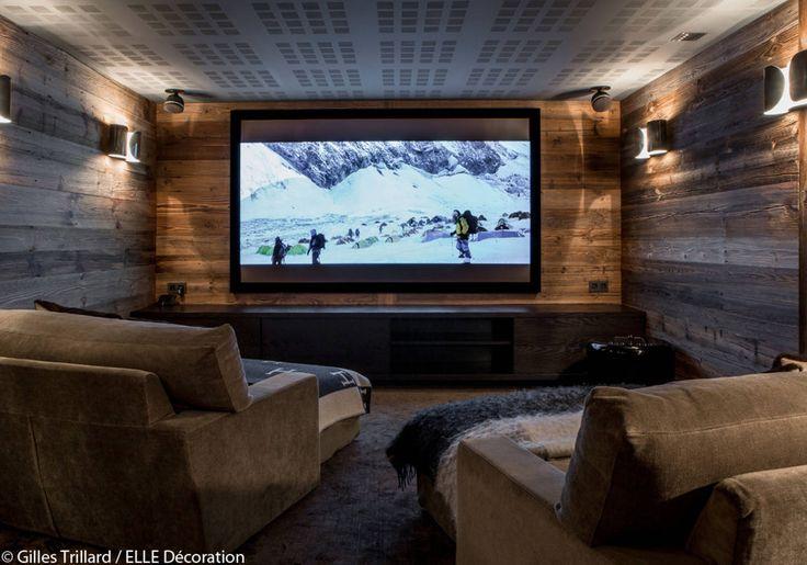 Home cinéma au sous-sol