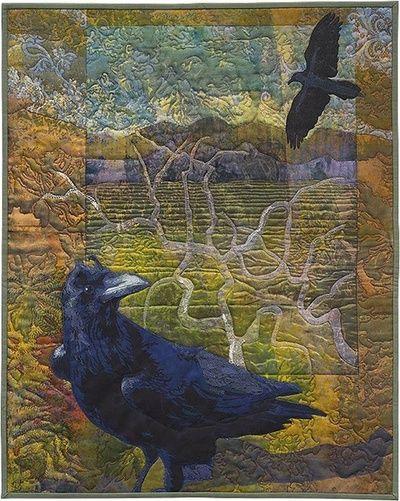 Karin Franzen  Crow or raven quilt