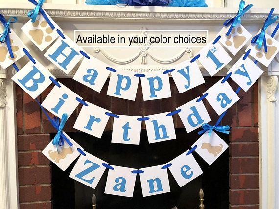 Puppy Birthday decorations  Boys  Puppy Dog 1st 3rd Happy