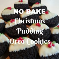 10 Minute No-Bake Christmas Pudding Oreo Cookies!