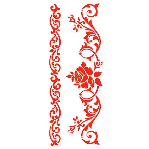 Трафарет 11х33 см Розовый бордюр (арт.: 2-6159): купить в Украине (Киев, Харьков, Донецк, Львов) по низкой цене | Фото, отзывы и описание в интернет магазине Hobbyshop
