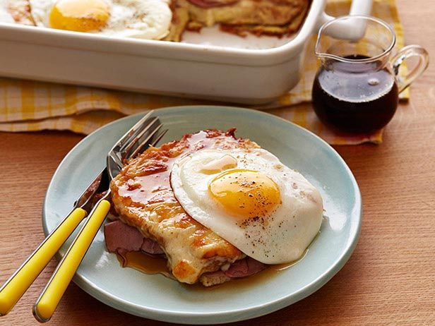 If you have trouble deciding on sweet or savory for brunch, make this Croque Madame casserole. It's the best of both worlds.