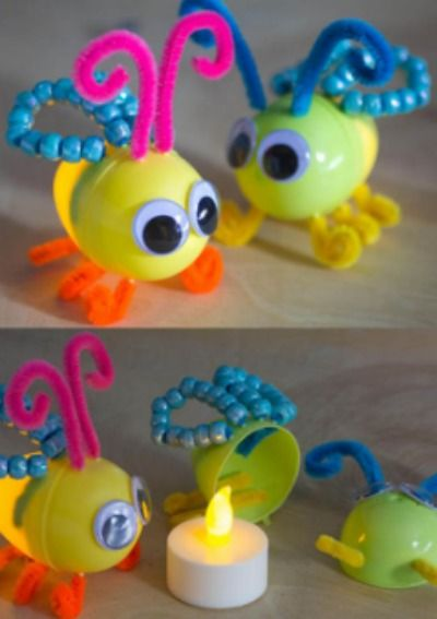 Kids will love this fun, DIY summer lightning bug craft -- how adorable!