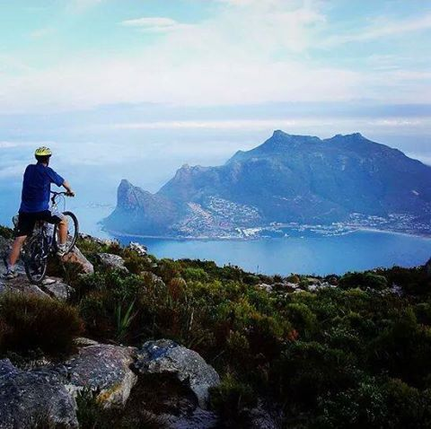 Hout Bay - how is that for a mountain bike view? #HoutBay #CapeTown #mountainbike