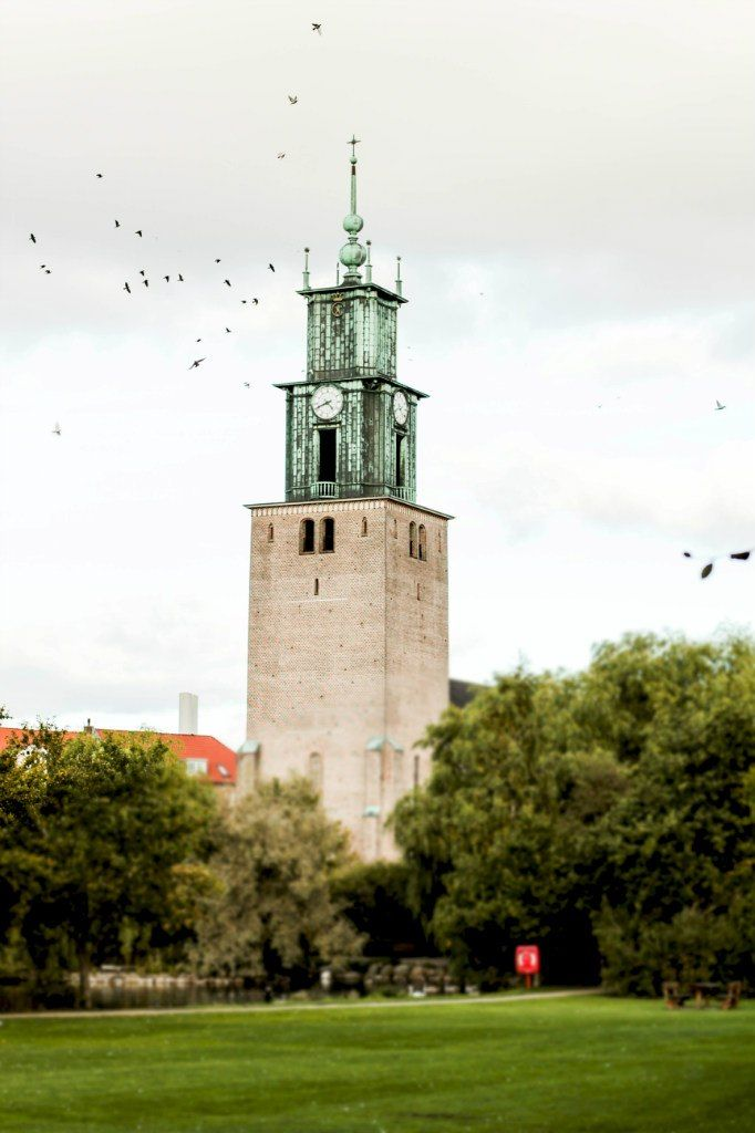 Aalborg - Denmark, my brother almost drowned in the lake by this church when we were small kids.