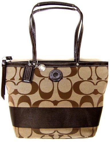 Coach Signature Stripe Lunch Shopper Bag Purse « Clothing Impulse