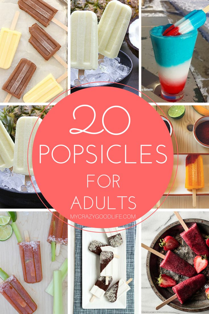 20 Adult Popsicle Recipes (with alcohol!)
