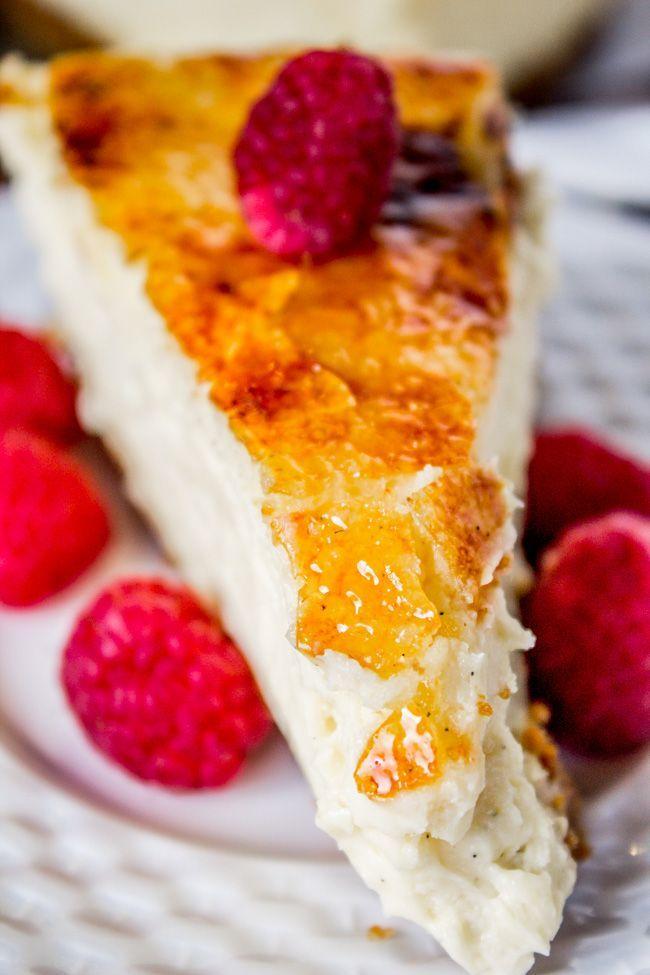 Crème Brûlée Cheesecake from The Food Charlatan #dessert #cheesecake #brulee