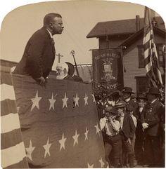 "President Roosevelt speech, ""The soldier, however patriotic, who runs away is no good"", Brattleboro, Vermont, 1902"