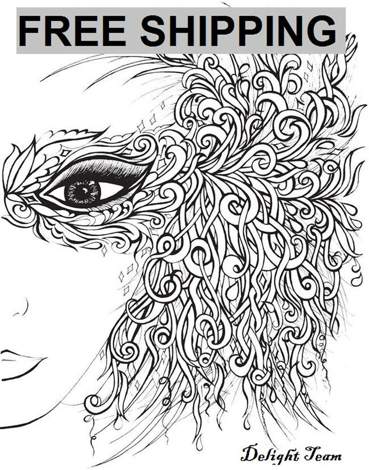 Adult Coloring Books Beautiful Faces To Color Stress Therapy Art Relieving New