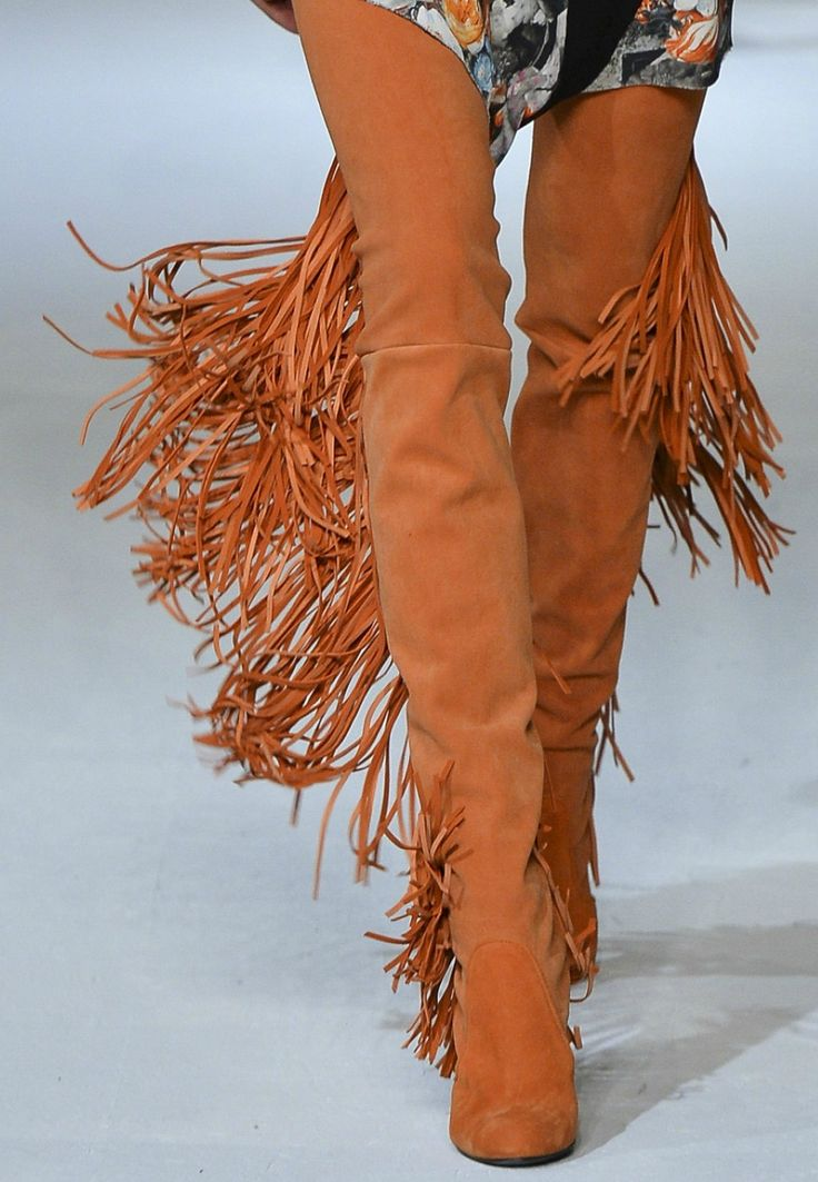 EU36-42 Women's Suede Over The Knee Boots Long Tassel Shoes Size Chunky Heel E02