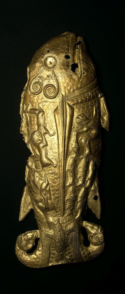 The Fish of Vettersfelde.The richest gold finds from antiquity originate from the burial mounds of Scythian princes in the northern Black Sea region, ca. 500 BCE.